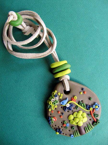 Ketten lang -  Kette Traumwald - ein Designerstück von MIO-O bei DaWanda