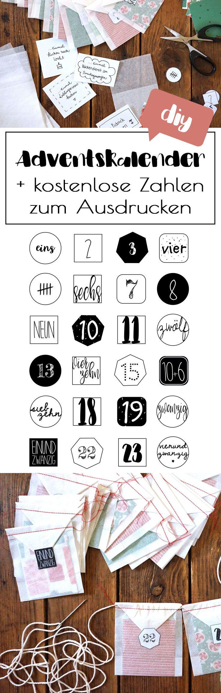 DIY Gutschein Adventskalender schnell & easy basteln (+ kostenlose Zahlen zum Ausdrucken). Hol dir dein kostenloses printable auf hejhurra.de