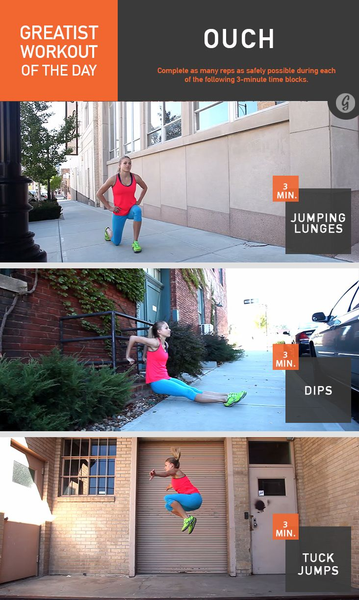 Greatist Workout of the Day: Ouch #fitness #bodyweight #workout