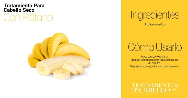 Repara el Cabello Dañado con Plátano | Los Mejores 20 Tratamientos Caseros Para El Cabello Seco