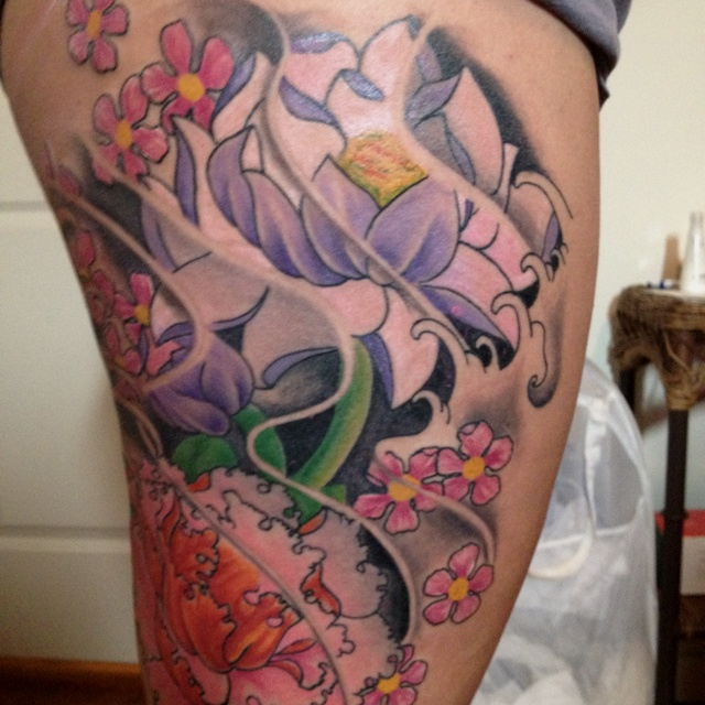 leg tattoo placement