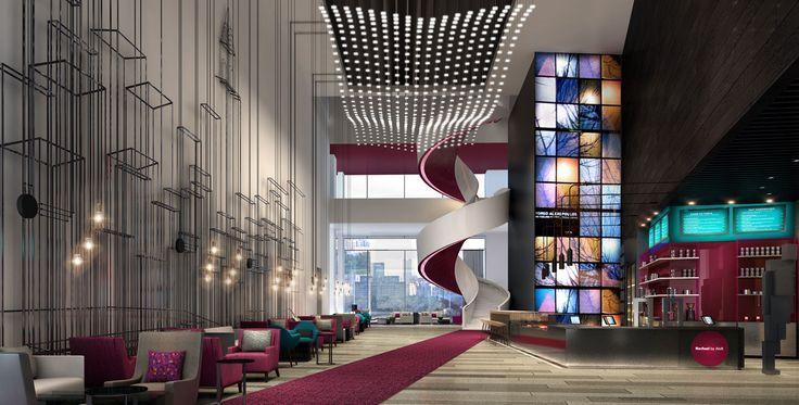 Aloft Deira City Centre in the UAE designed by Studio HBA.