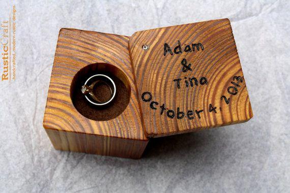 wooden wedding ring box 1