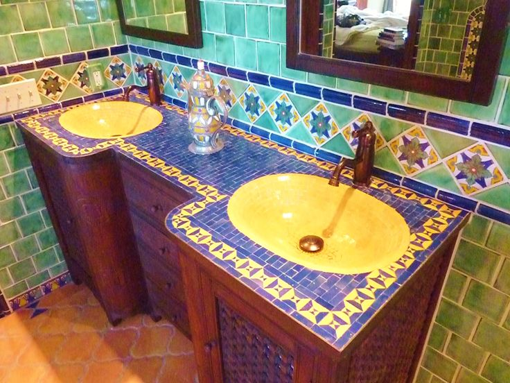 Moroccan Themed Bathroom Using Turkish, Moroccan And Mexican Tiles.