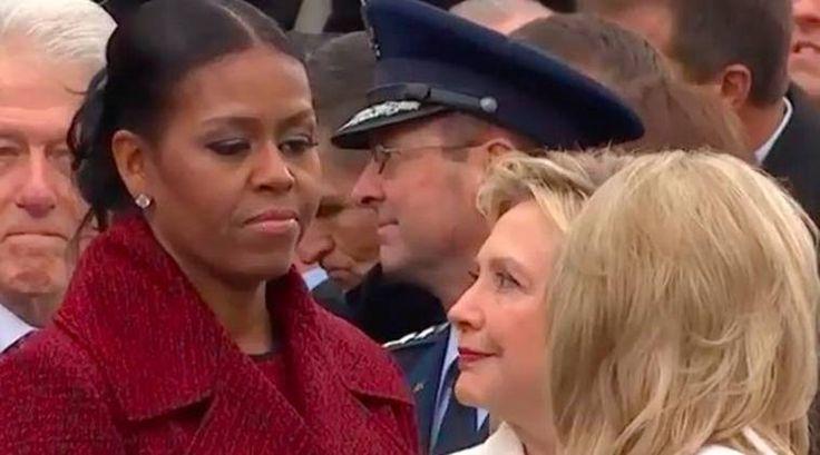 michelle obama, hillary clinton inauguration photo