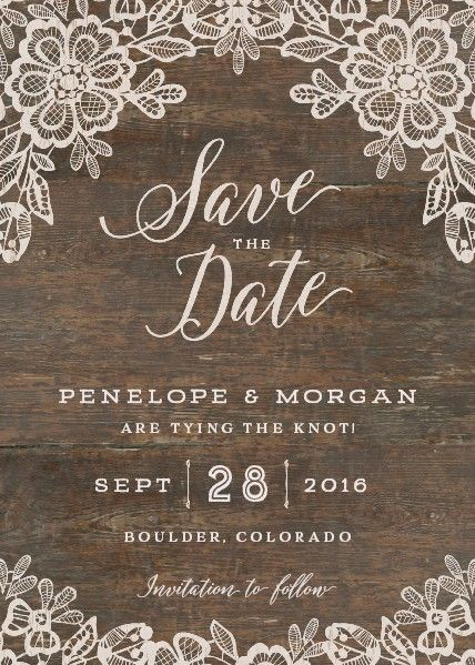 The perfect Rustic save the date!