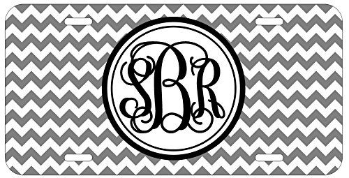 Personalized Monogrammed Chevron Grey Vine License Plate Auto Tag Top Craft Case http://www.amazon.com/dp/B00OMQCVGY/ref=cm_sw_r_pi_dp_.Yotub19AA097
