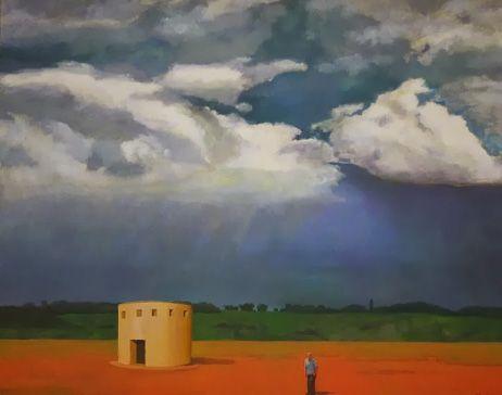 Fernando Puente. Óleo sobre lienzo. Persistencia de la lluvia 2