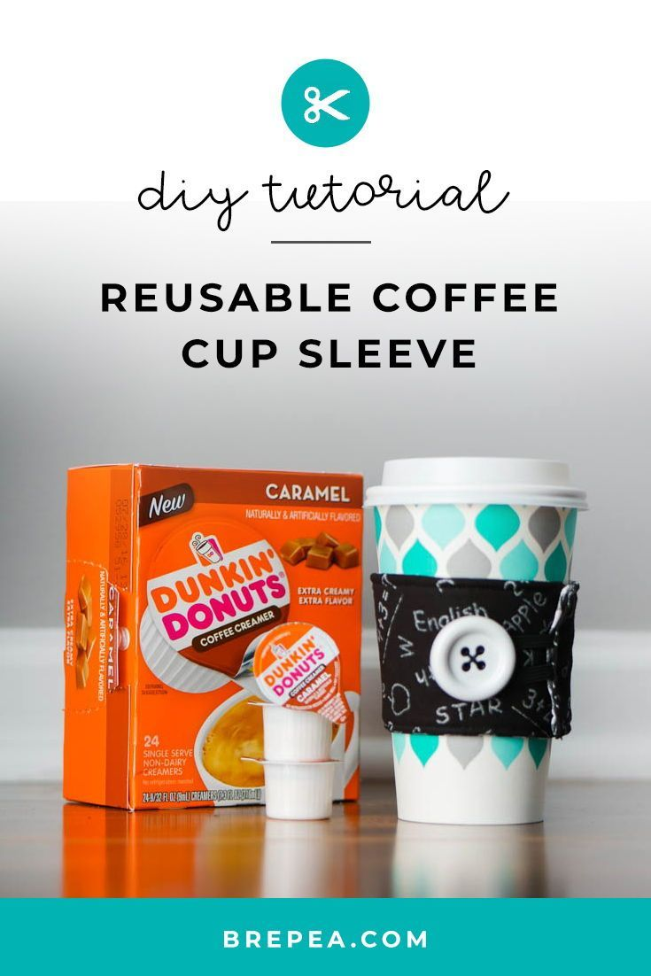 Easy Diy Reusable Coffee Cup Sleeve