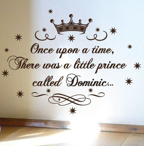 baby prince nursery   Little Prince Nursery Vinyl Rhyme Wall Art Sticker Decal Children Kids