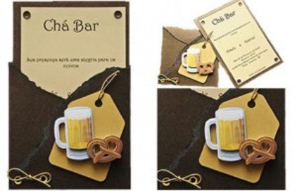 Convite bem fofo pra um chá-bar