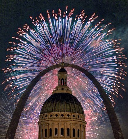 Beautiful Fireworks in St. Louis!  Who's ready for the 4th of July?