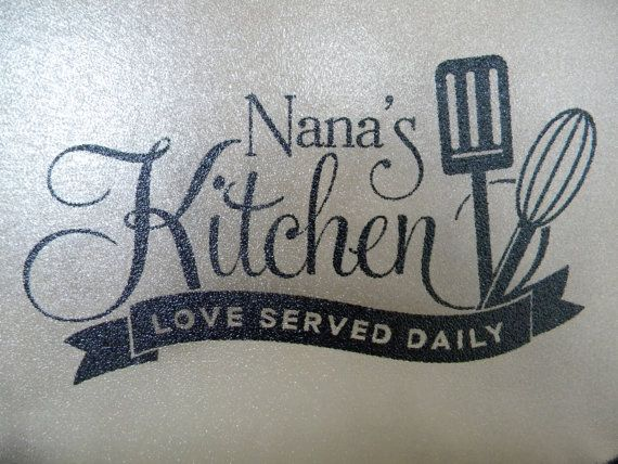 Personalized Glass Cutting Board for Nana's by NanasPaperGoods