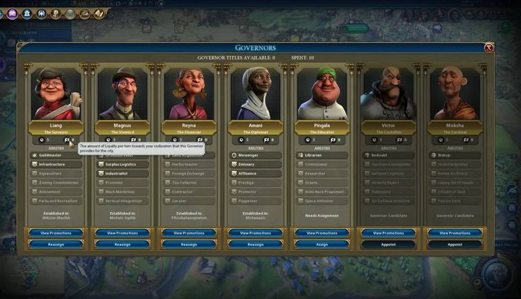 Civilization VI: Rise and Fall - Managing Your Governors Get a look at what it's like to manage your governors in the new Civilization VI expansion Rise and Fall. January 22 2018 at 03:00PM  https://www.youtube.com/user/ScottDogGaming