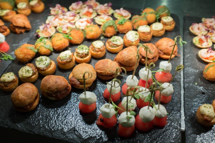 Some of our delicious canapes including watermelon and for Mini prawn cocktail canape