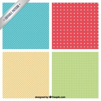 Dotted patterns in different colors