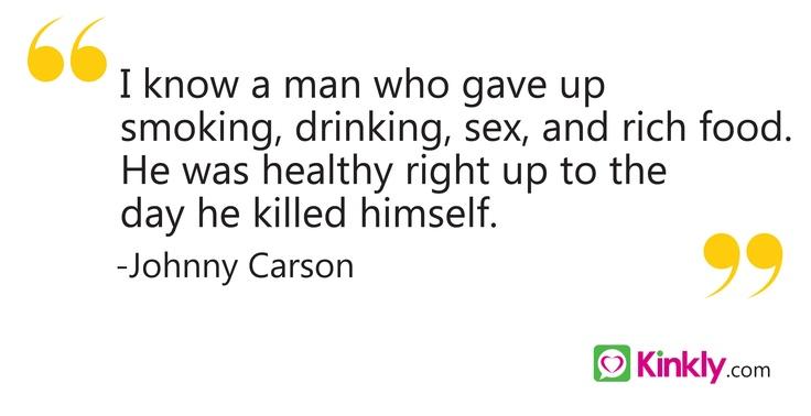 Johnny Carson Sex Quote