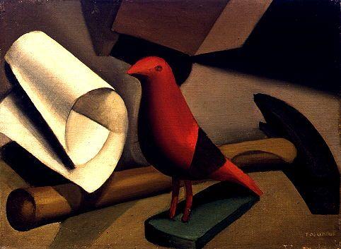 The Red Bird  Tamara de Lempicka