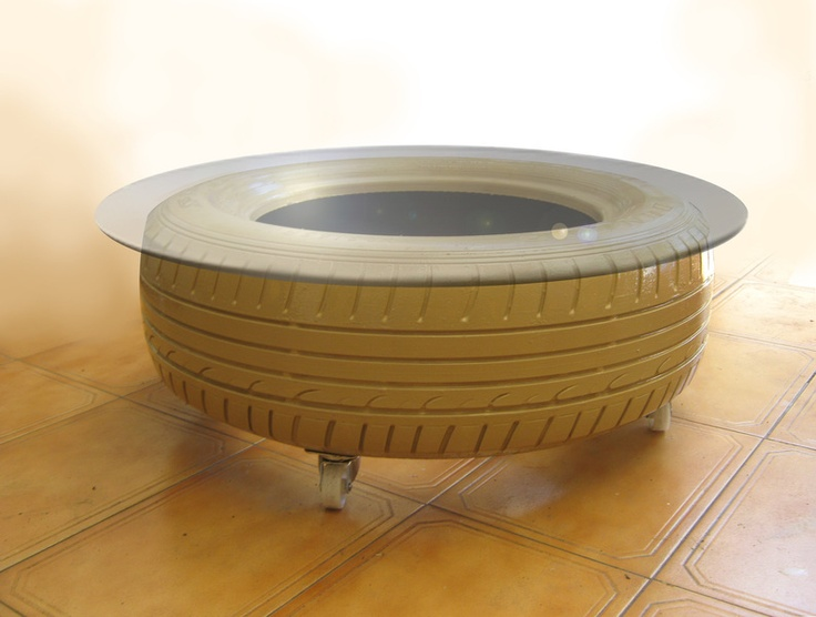 98 best images about rubber tire art on pinterest for Table design latex