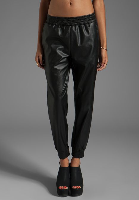 LOVERS + FRIENDS for REVOLVE Track Pants in Black - Lovers + Friends Athletic