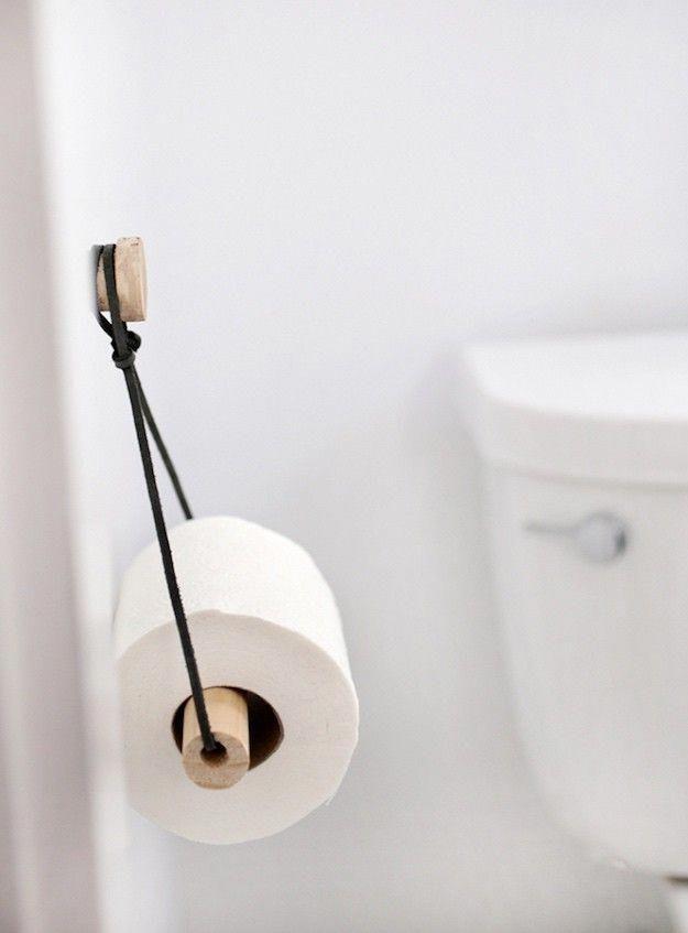 DIY Toilet Paper Holder Creative DIY Bathroom Ideas On A Budget