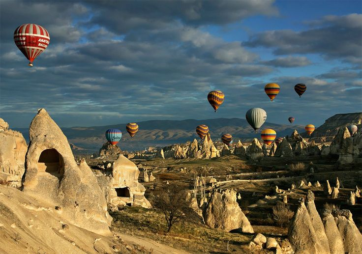 Fairy Chimneys in Gorme Anatolian region in Turkiye - Capadocia