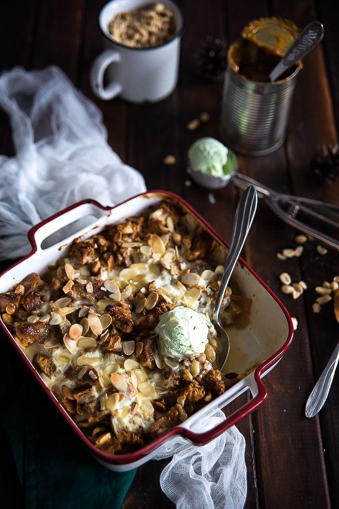 picante-jalapeno.blogspot.com: Pudding orzechowo-migdałowy z karmelem i jabłkami