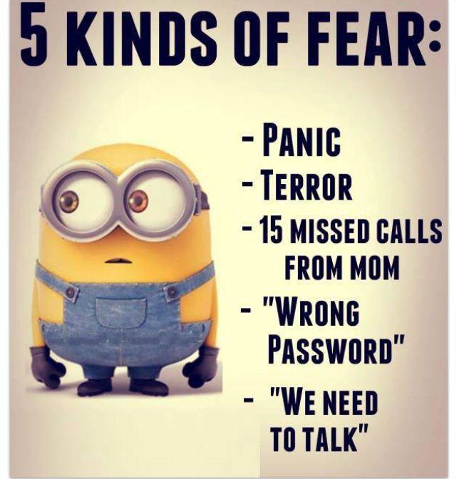 Minions - 5 kinds of fear