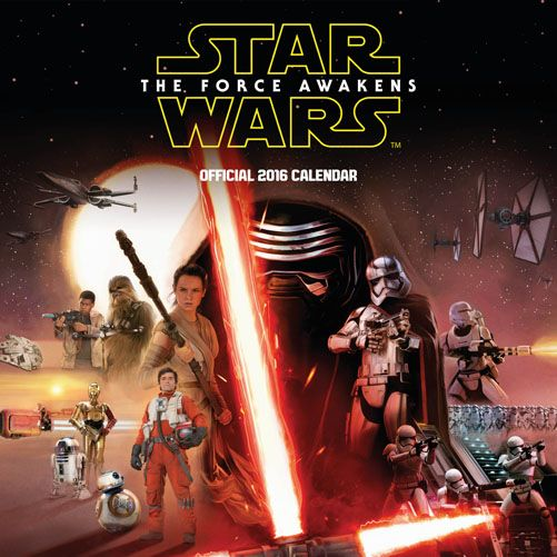 Official Star Wars Episode 7 2016 Calendar available now from Publishers at https://www.danilo.com/Shop/Calendars/Film-Calendars