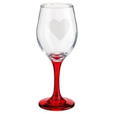 Heart wine glass, £1, Poundland