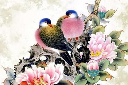 Free Hd Flower Wallpaper Chinese Bird Flower Painting 94942 High Quality And
