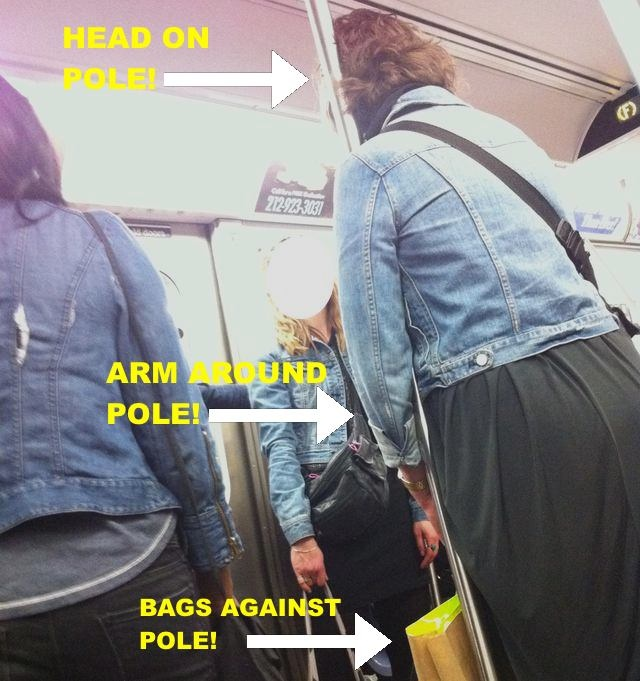 Subway Etiquette 101 (Don't Hug the Pole) from the Gothamist (found via Jeremiah's Vanishing NY)