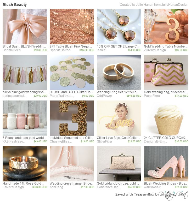 243 Best Blush Pink And Gold Weddings Images On Pinterest