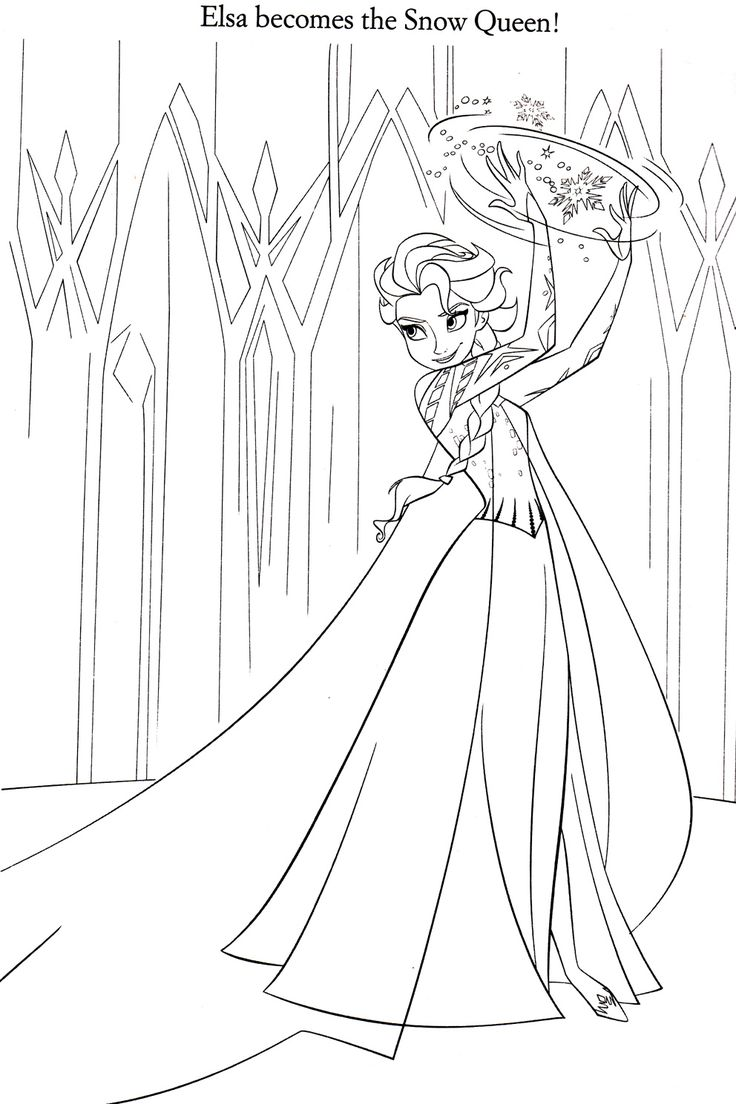 Coloring pages elsa - Disney Coloring Pages
