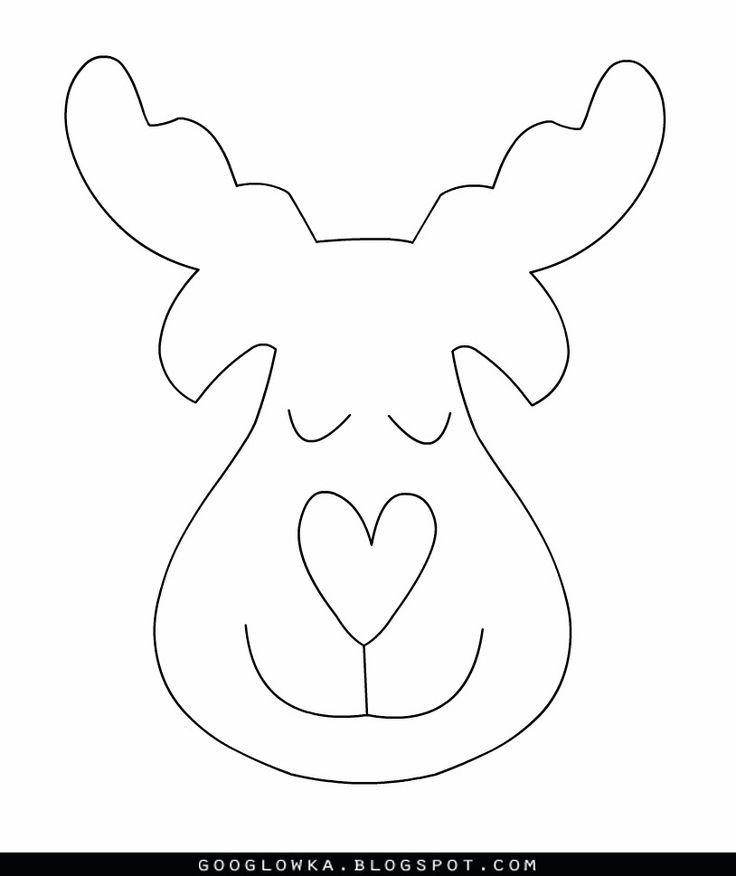 Reindeer pattern CHRISTMAS REINDEER PRINTABLE Fun Family