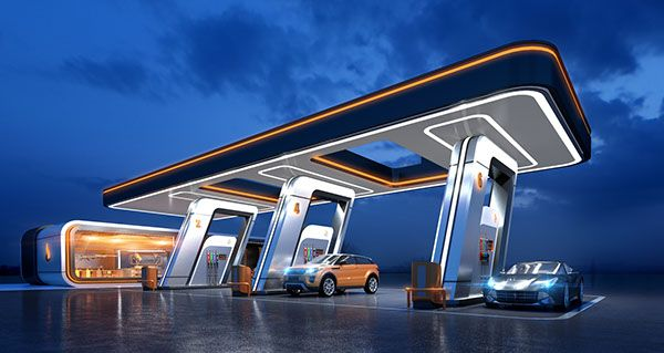 Glusco Concept Of A Gas Station On Behance Petrol Station Gas Station Filling Station