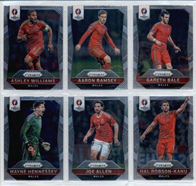 UEFA Euro 2016 Wales Team Set of 10 Cards: Gareth Bale(#118), Aaron Ramsey(#119), Ashley Williams(#120), Hal Robson-Kanu(#121), Joe Allen(#122), Wayne Hennessey(#123), Joe Ledley(#124), Neil Taylor(#125), Ben Davies(#126), Andy King(#127)