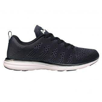 Apl Athletic Propulsion Labs Techloom Pro Sneakers in Black/Metallic Silver  as seen on Kourtney Kardashian
