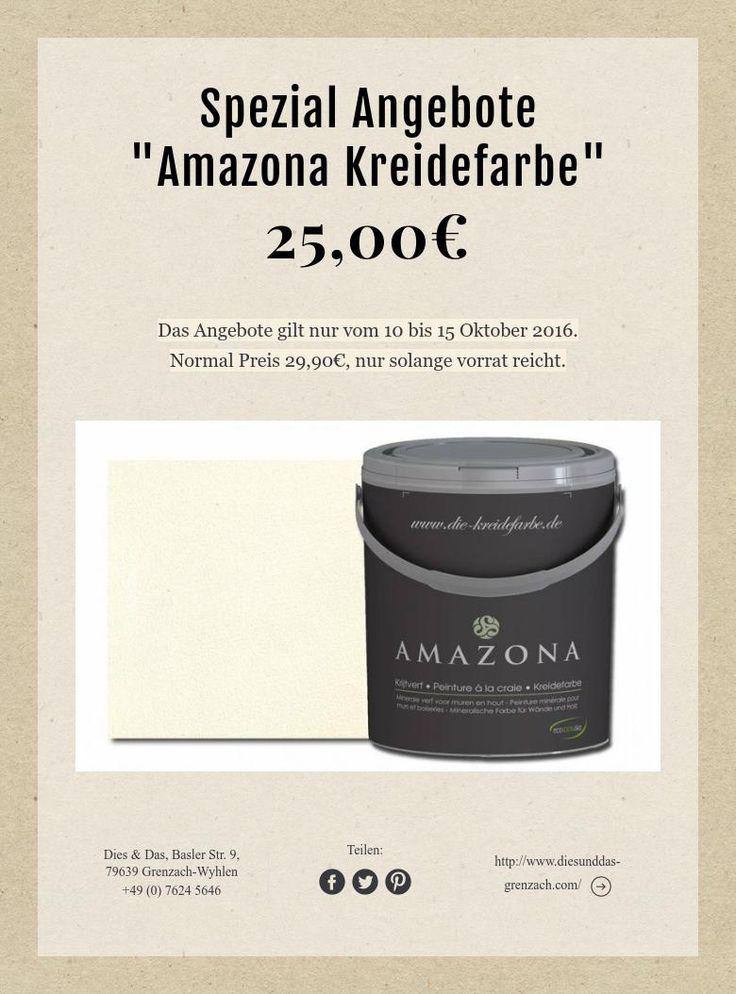 "Spezial Angebote  ""Amazona Kreidefarbe""  25,00€"