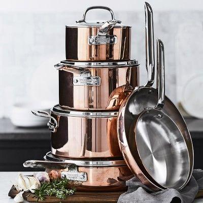 Sigh. Someday! Williams-Sonoma Professional Copper 10-Piece Cookware Set #williamssonoma