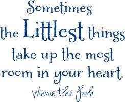 : Life Quotes, Little Things, Pooh Bears, Make Me Smile Quotes, Littlest Things, So True, Nurseries Wall Quotes, Winnie The Pooh, Inspiration Quotes