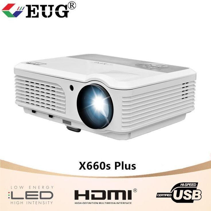 EUG 4200lm 7000:1 HD LED Home Cinema Projector 1080p Laptop HDMI USB AV 1280800 #homecinemaprojector