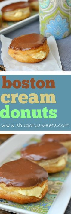 Easy, fried Boston Cream Donuts in under 30 minutes! Made using Pillsbury Grands biscuits and filled with a creamy pudding mixture, these are sure to tempt you! Don't forget the rich chocolate ganache!