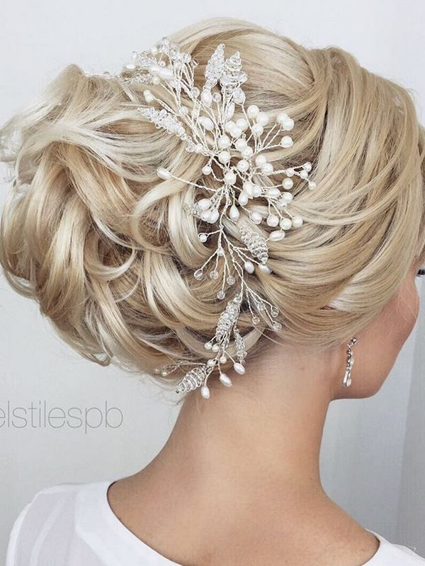 wedding hairstyles veil