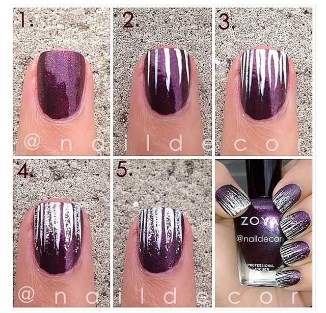 Super cute and simple.. would be cute with red and green for Christmas so they look like snow or icicles .