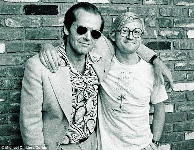 With Jack Nicholson in 1978. Hockney also mixed with Aldous Huxley, Allen…