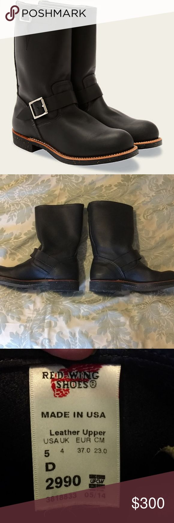 NWOT Red Wing Engineer 2990 Boots $400 online! They don't fit me, so I only tried wearing them once! Still perfect. No box. Red Wing Shoes Shoes Combat & Moto Boots