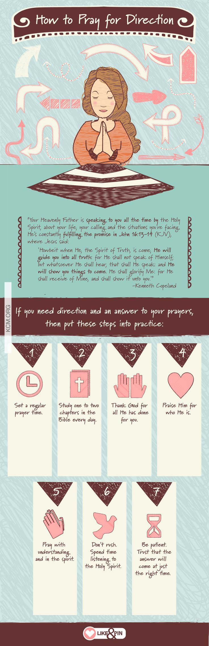 If you need direction and an answer to your prayers, then put these steps into practice! Learn more about getting the direction you need from God here: http://kennethcopelandministries.org/get-direction-need-god/