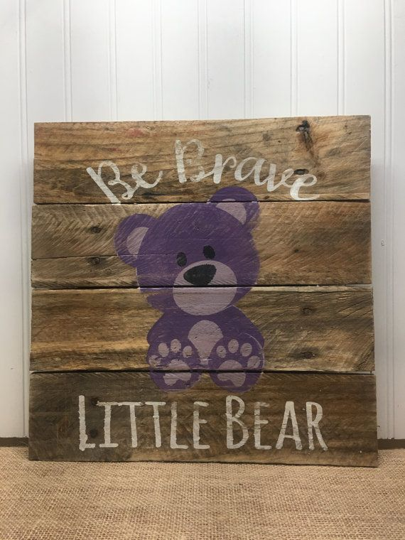 Hey, I found this really awesome Etsy listing at https://www.etsy.com/listing/474792558/rustic-pallet-wall-art-brave-bear