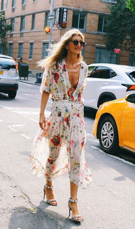 Fresh Printed Dress | street style | women's fashion | fashion inspiration | outfit ideas